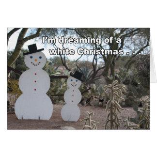 Cartão de Natal dos Snowbirds do deserto