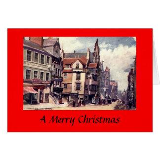 Cartão de Natal - Edimburgo