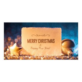 Cartão de Natal elegante Cartão Com Foto
