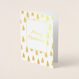 Cartão de Natal elegante da folha dos abeto
