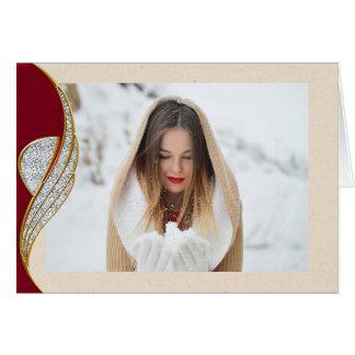 Cartão de Natal elegante da foto do país