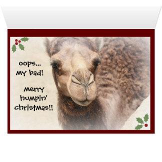 Cartão de Natal engraçado (2) do dia de corcunda
