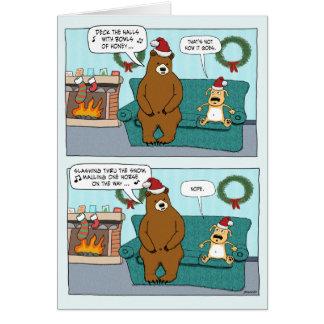 Cartão de Natal engraçado: Canções de natal do