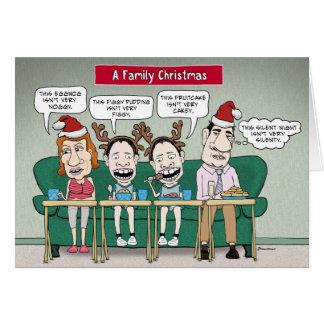 Cartão de Natal engraçado da família