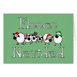 Cartão de Natal engraçado de Navidad do velo