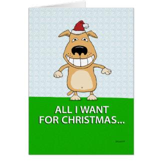 Cartão de Natal engraçado do cão
