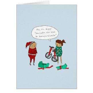 Cartão de Natal engraçado do ciclismo do Natal |
