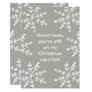 Cartão de Natal engraçado do floco de neve do Convite 12.7 X 17.78cm