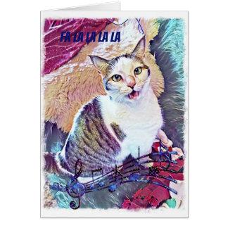 Cartão de Natal engraçado do gato