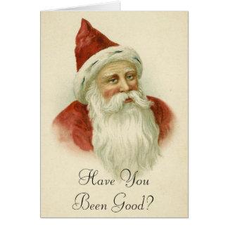 Cartão de Natal engraçado do papai noel do vintage