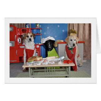 Cartão de Natal engraçado, foto de um cozimento de