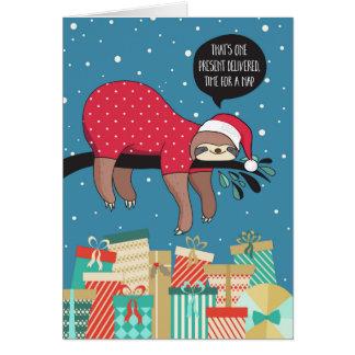 Cartão de Natal engraçado - o papai noel da