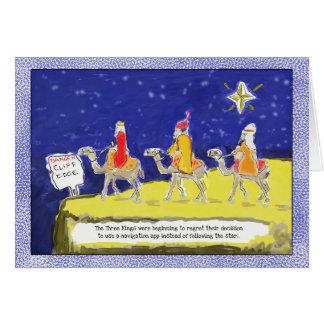 Cartão Cartão de Natal engraçado: Os três reis