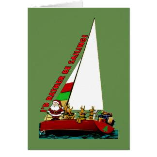 Cartão de Natal engraçado para a NAVIGAÇÃO do