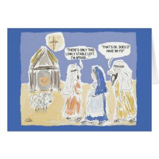 """Cartão de Natal engraçado: """"Tem Wi-Fi? """""""