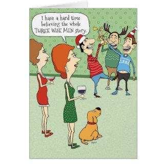 Cartão de Natal engraçado: Três homens sábios