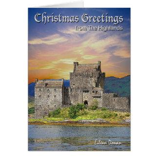 Cartão de Natal escocês das montanhas