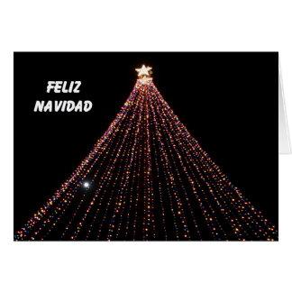 Cartão de Natal espanhol -- Árvore das luzes