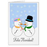Cartão de Natal espanhol de Feliz Navidad do bonec