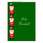Cartão de Natal espanhol de Feliz Navidad do papai