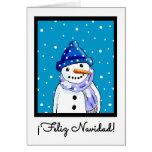 Cartão de Natal espanhol - Feliz Navidad