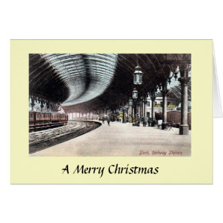 Cartão de Natal - estação de comboio de York