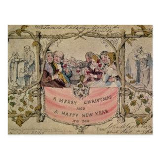 Cartão de Natal, exemplo do Natal conhecido Cartão Postal