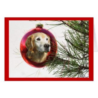 Cartão de Natal fabuloso da cara do golden