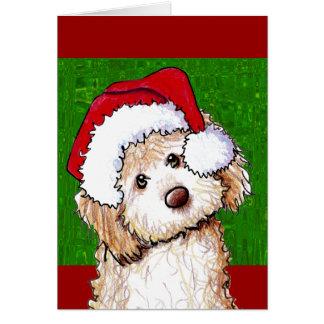 Cartão de Natal fantasma do Doodle do papai noel