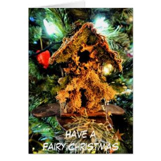 Cartão de Natal feericamente da casa