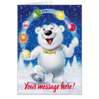 Cartão de Natal feito sob encomenda agradavelmente