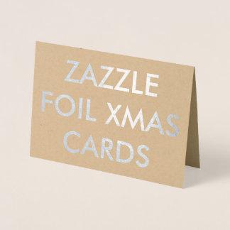 Cartão de Natal feito sob encomenda da folha de