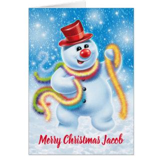 Cartão de Natal feito sob encomenda do boneco de