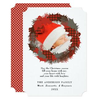 Cartão de Natal feito sob encomenda do cumprimento
