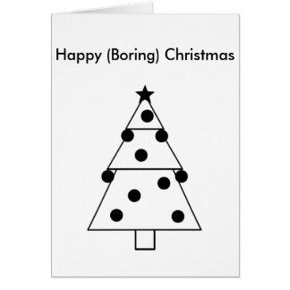 Cartão de Natal feliz aborrecido engraçado