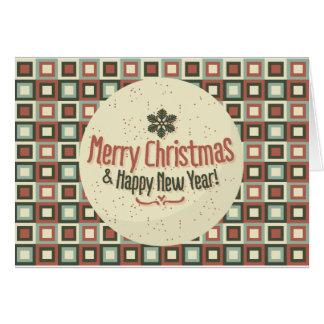 Cartão de Natal Feliz Ano Novo Fofinho