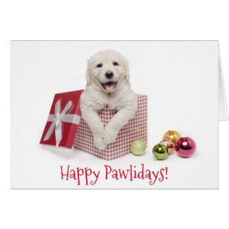 Cartão de Natal feliz de Pawlidays