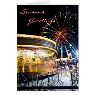 Cartão de Natal festivo da roda de Ferris