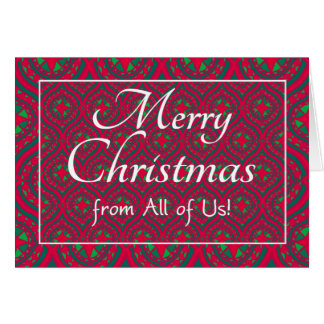 Cartão de Natal festivo, dtodos nós, vermelho,