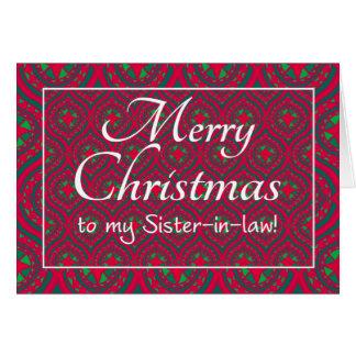 Cartão de Natal festivo para o verde vermelho da