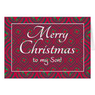 Cartão de Natal festivo para o verde vermelho do