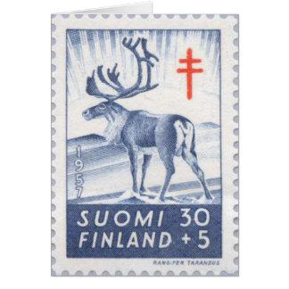 Cartão de Natal finlandês da rena