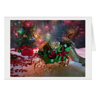 Cartão de Natal - Flapjack o dragão farpado