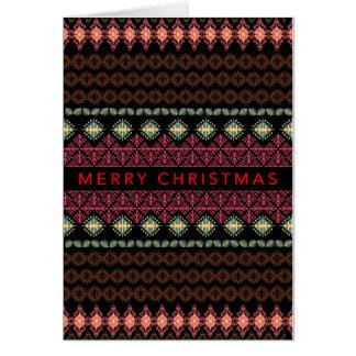 Cartão de Natal Folksy nórdico da beira