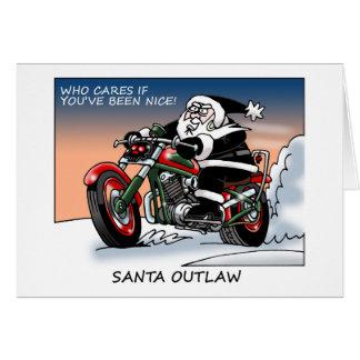 Cartão de Natal foragido do papai noel