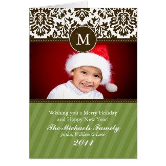 Cartão de Natal formal do monograma