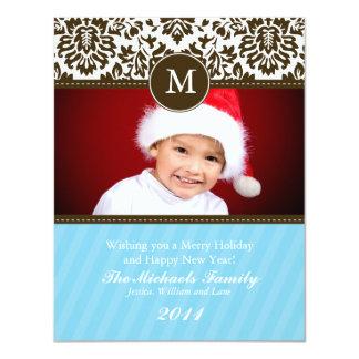 Cartão de Natal formal do monograma Convite 10.79 X 13.97cm