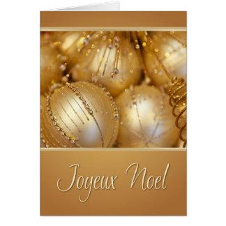 Cartão de Natal francês de Joyeux Noel
