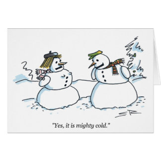 Cartão de Natal frio poderoso dos desenhos