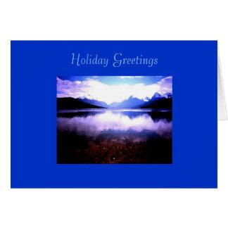 Cartão de Natal, geleira NP de McDonald do lago
